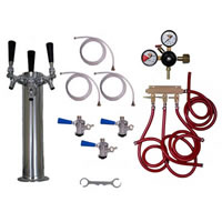 Kegerator Tower Conversion Kit - 3 Taps /