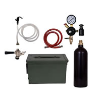 Party Keg Kit In Ammo Can - 1 Faucet - 20oz CO2 Cylinder  /