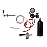 Refrigerator Commercial Keg Kit - 1 Faucet - 20oz CO2 Cylinder  /