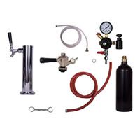Tower Commercial Keg Kit - 1 Faucet - 20oz CO2 Cylinder