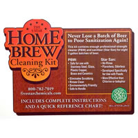 Homebrew Cleaning Kit - Keg Cleaning and Sanitizing Kit /
