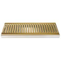 "Micromatic 12"" SS/PVD Brass Surface Mount Drain Tray, No Drain Nipple /"
