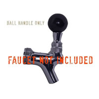 Faucet Handle - Round Black /