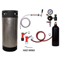 Refrigerator Keg Kit - 20oz - PIN LOCK - Complete Kit