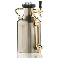 GrowlerWerks Pressurized Stainless Steel Growler with Faucet - 128 oz