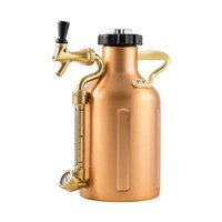 GrowlerWerks Pressurized Copper Growler with Faucet - 64 oz /