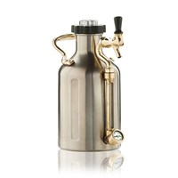 GrowlerWerks Pressurized Stainless Steel Growler with Faucet - 64 oz /