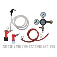Basic Homebrew Keg Kit - PIN LOCK - Taprite Regulator /