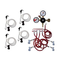 Basic Homebrew Keg Kit - 4 Tap - BALL LOCK /