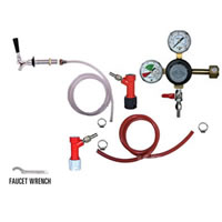 Refrigerator Keg Kit - Taprite Regulator - Single Tap - PIN LOCK /
