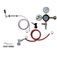 Refrigerator Keg Kit - Taprite Regulator - Single Tap - BALL LOCK