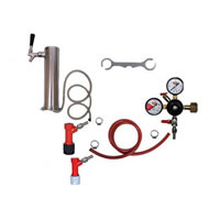 1 Faucet Tower Keg Kit - PIN LOCK