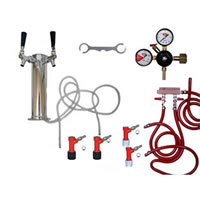 2 Faucet Tower Keg Kit - PIN LOCK /