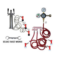 3 Faucet Tower Keg Kit - Taprite Regulator - PIN LOCK /