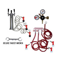 3 Faucet Tower Keg Kit - PIN LOCK /