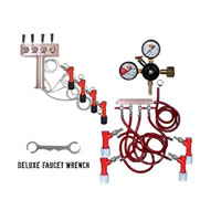 4 Faucet Tower Keg Kit - PIN LOCK /
