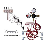 4 Faucet Tower Keg Kit - BALL LOCK /