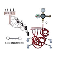 4 Faucet Tower Keg Kit - Taprite Regulator - BALL LOCK /