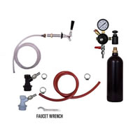Refrigerator Keg Kit - 20oz - Single Tap - BALL LOCK /