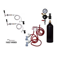 Refrigerator Keg Kit - 20oz - Double Tap - BALL LOCK