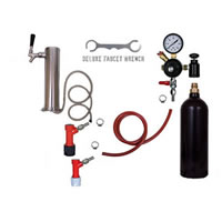 1 Faucet Tower Keg Kit - 20oz CO2 - PIN LOCK /