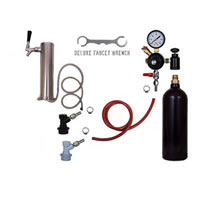 1 Faucet Tower Keg Kit - 20oz CO2 - BALL LOCK /