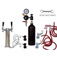 2 Faucet Tower Keg Kit - 20oz CO2 - BALL LOCK /