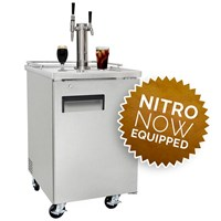 NitroNow Commercial Dual Faucet On-Demand Nitro Coffee & Iced Coffee Kegerator /