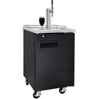 Nitro Coffee Commercial Grade Kegerator - Single Stout Faucet (Black/Ball Lock) /