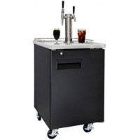 Nitro Coffee & Iced Coffee Dual Tap Commercial Grade Kegerator (Black/Ball Lock) /