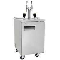 Nitro Coffee Commercial Grade Kegerator - Dual Stout Faucets (Silver/Ball Lock) /