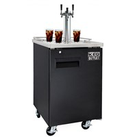 Cold Brew Coffee Commercial Grade Kegerator - 3 Faucet (Black) /