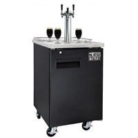Nitro Coffee Commercial Grade Kegerator - 3 Nitro Faucets (Black) /