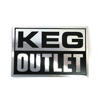 "Keg Outlet Etched Aluminum Emblem (4.5"" X 3"") /"