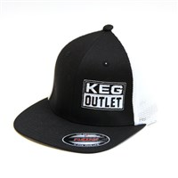 Keg Outlet Fitted Trucker Hat (FlexFit 2-Tone Trucker) /