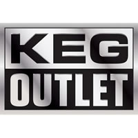 "Keg Outlet Sticker (4X6"") /"