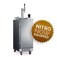 NitroNow Compact Single Faucet On-Demand Nitro Coffee Stainless Kegerator /