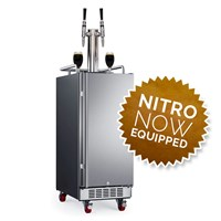 "15"" Compact Dual Faucet Nitro Coffee Empowered Kegerator (Stainless)"