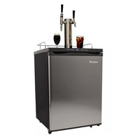 Cold Brew & Nitro Coffee Kegerator with Temp Display - 2 Faucets /