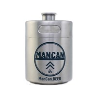 ManCan Stainless Steel Growler Mini-Keg (64 oz)