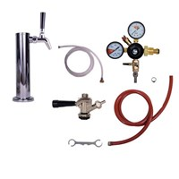 Cold Brew Kegerator Conversion - Tower w/ Single Flat Cold Brew Faucet (Commercial Coupler) /
