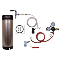 Refrigerator Keg Kit - Nitrogen Tap - BALL LOCK with Keg