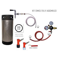 Refrigerator Keg Kit - Nitrogen Tap - PIN LOCK with Keg /