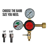 CO2 Beer Regulator - Double Gauge - Taprite /