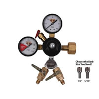 CO2 Beer Regulator - WYE Chudnow Regulator - Double Gauge /