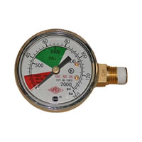 Regulator Gauge - 0-2000 PSI - Taprite /