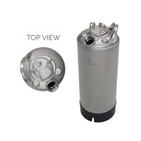 5 Gallon Line Cleaning Keg (Single Port) with Removable Lid - No Valve /