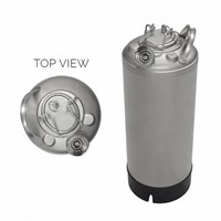 5 Gallon Line Cleaning Keg (Sanke D) with Removable Lid /