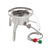 "14"" Propane High Pressure Burner with Wind Shield (10 PSI) /"