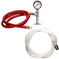 CO2 Pressure Transfer Kit for Ss Brewtech Chronical Fermenters with Beer Transfer Hose /